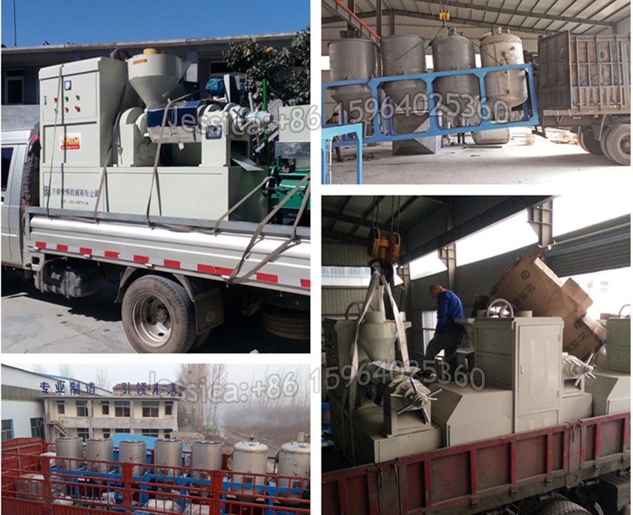 Equipment for the production of cotton seed oil