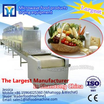 Conveyor belt tunnel type coriander microwave dryer/sterilizer