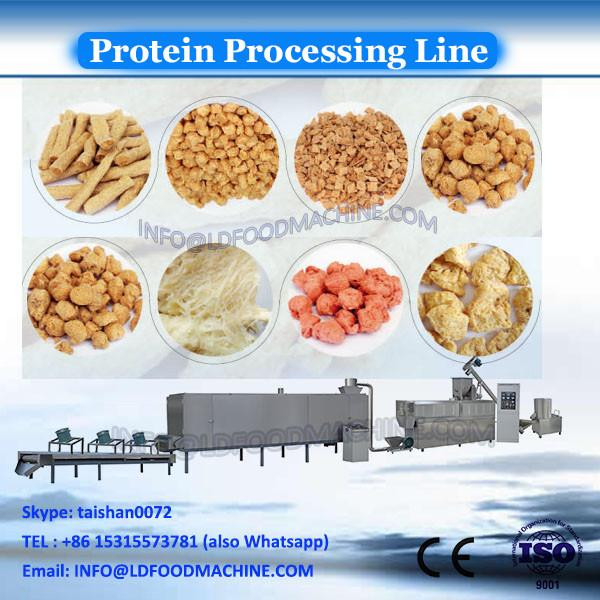 Twin screw extruder textured soya protein making machine /soy meat processing line/soya nuggets production line #2 image