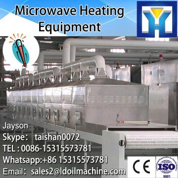 NEW technology vegetable leaves water free microwave blanching equipment 120kg per hour