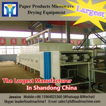 Continuous conveyor beLD type microwave paper dryer