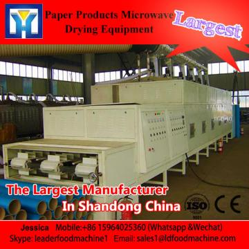 Continuous beLD type paper products microwave dryer