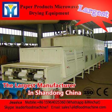 tunnel type industrial Jasmine tea leaf vacuum drying and sterilizing machine