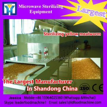 China new tech high effective microwave packed snack food sterilizing equipment