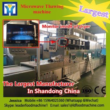 High efficient continuous microwave dryer