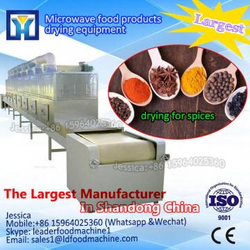 Tunnel type cabinet vegetable microwave drying machine with TEFL conveyor beLD