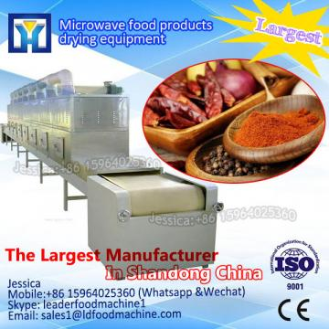 Tunnel microwave machine for drying toothpick