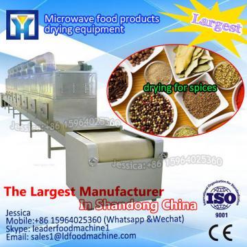 Continuous belt tea dryer sterilizer/industrial tea microwave oven with