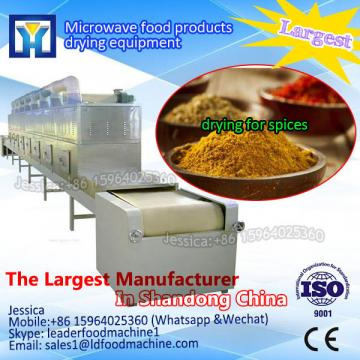 New microwave tunnel dryer for dried beef