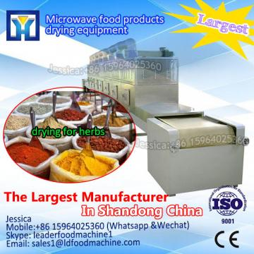 Continuous tunnel belt microwave spice dryer and sterilizier