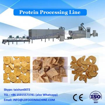Extruded artificial soy protein chunks nuggets manufacturing machinery line