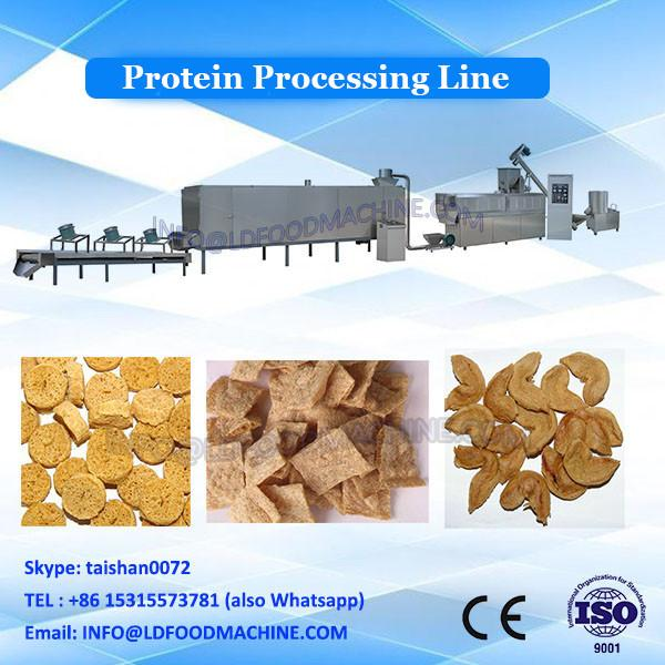 Artificial food extruder soya protein manufacturing machine #3 image